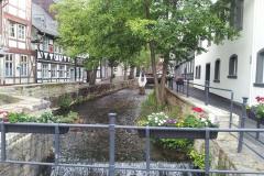 21. Kanalen som genomkorsade Goslar gav kraft åt vattenhjul och kraftkälla för verkstäder när det begav sig.